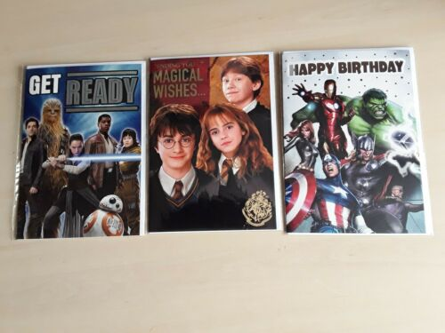 Harry Potter Hermione Ron Marvel Avengers Star Wars Kids Birthday Greetings Card