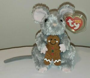 Ty Beanie Baby - STIRRING the Mouse (Gingerbread)(5.5 Inch) MINT with MINT TAGS