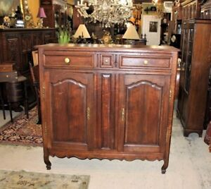 Bon Details About French Antique Oak Tall Sideboard Cabinet Circa 1800 | Dining  Room Furniture