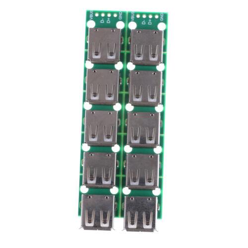 Typ A DIP Buchse USB zu 2,54 mm PCB Board Adapter Konverter für Arduino CB