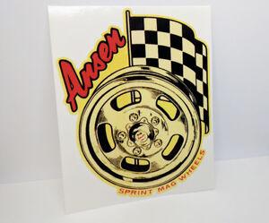 Ansen Mag Wheels Vintage Style DECAL, Vinyl STICKER, racing, hot rod, rat rod