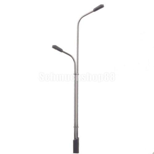 10 Modell-Bahnzug-Architektur Dual-Lampen-Pfosten-Straßenleuchte LED Spur N