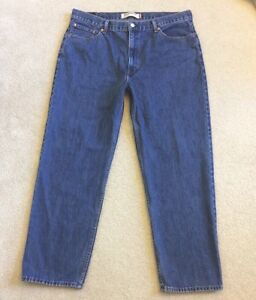 Mens Levis 550 Relaxed Fit Jeans Size 42x32