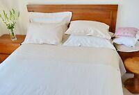 Double Bed Sheet Set 1000tc/10cm2 Pure Cotton Ivory Stripe Factory Second