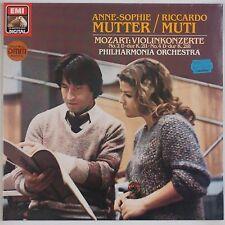 MOZART: Violin Concert MUTTER Muti EMI Digital Germany Import LP NM DMM