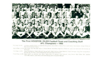 Fan Apparel & Souvenirs 1960 HOUSTON OILERS 8X10 TEAM PHOTO AFL CHAMPS TEXAS  FOOTBALL NFL USA