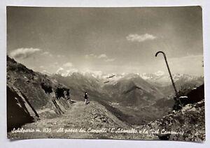 Cartolina-Bergamo-vera-foto-Schilpario-viaggiata-anni-50-bianco-e-nero-animata