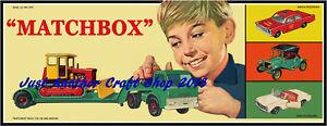 Matchbox-Toys-cartel-decada-de-1960-ilustraciones-Tienda-Pantalla-signo-prospecto-anuncio-en-muy