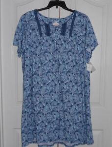 Flower Croft 4x Camicia Paisley Barrow Blu corta da and Cotton Manica Blend notte Nwt g6xq8grZ