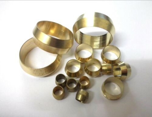 *Top Quality! Pipe fitting Sink 12 x Metric brass compression olives Tap