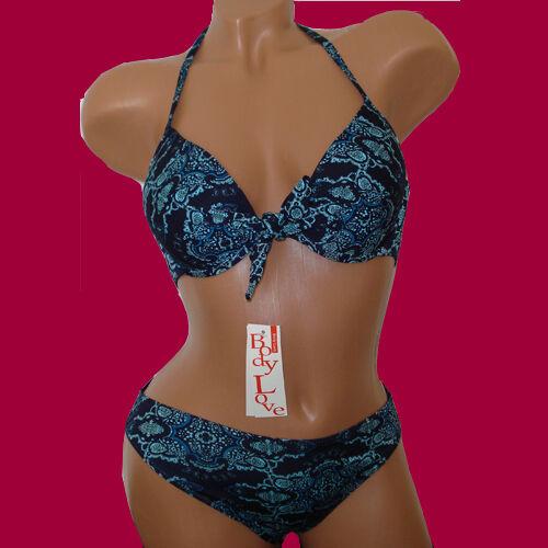 6033 Nuovo PUSH-UP Bikini con benda Rock 3 Pezzi