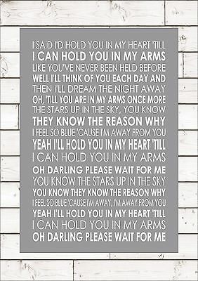 I Ll Hold You In My Heart Elvis Word Typography Words Song Lyric Lyrics Music Ebay