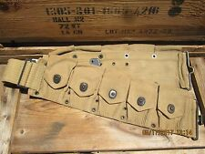 100%Orig VGC WWI WW1 Early WWII M1910 Cartridge Belt 10 Pouches M1 Garand 1903