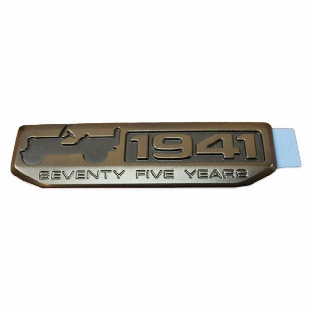 JEEP Wrangler Compass Patriot 75 Year 1941 Anniversary WILLYS Emblem MOPAR NEW