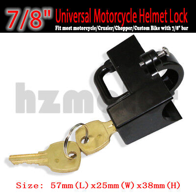 Black Helmet Lock Fit Kawasaki Ninja EX ZX 250 R 600R 500 R 650 R 750R 900 1000