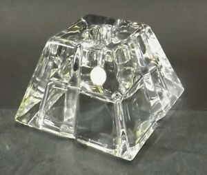 Beautiful-Rosenthal-Germany-24-Lead-Glass-Candle-Holders-034-Pyramid-034