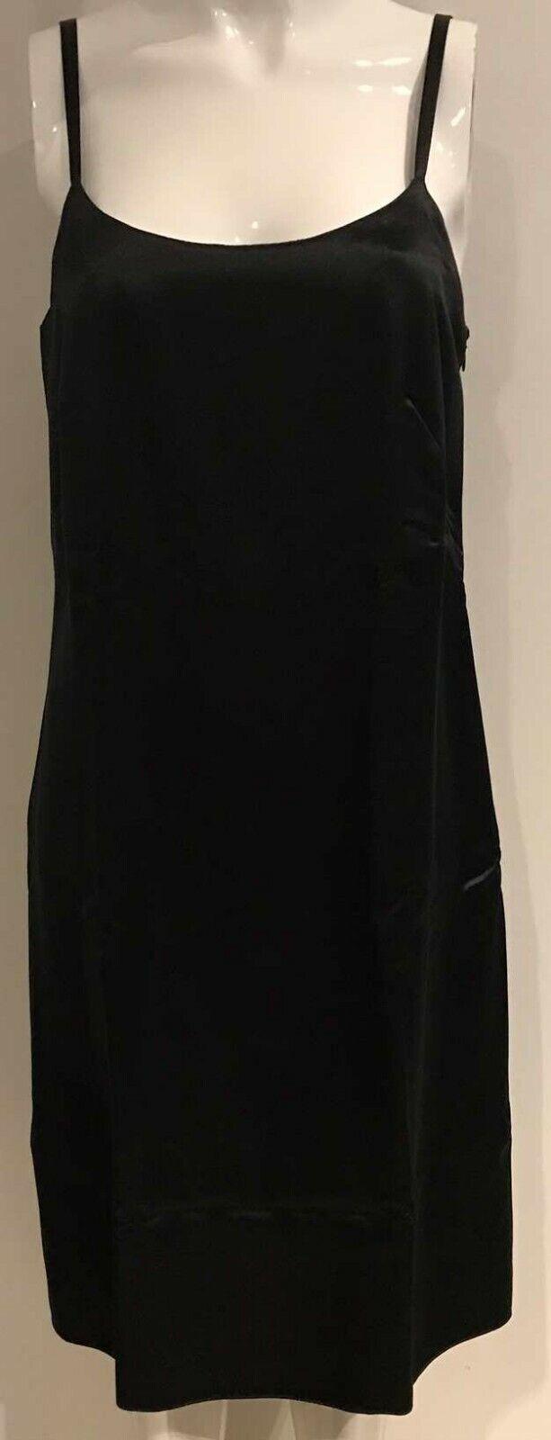 Italian Designer Mariella Burani schwarz short summer dress IT 44 Vintage NWOT