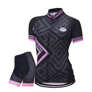 Women-Sports-Cycling-Jersey-Bike-Short-Sleeve-Clothing-Bicycle-Shirts-S-XL