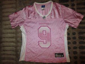f1429ba69b6 Tony Romo #9 Dallas Cowboys Pink NFL reebok Jersey Womens Med Medium ...
