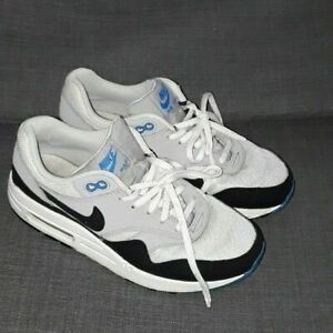 Details about Nike Air Max 1 (GS) TRAINERS 555766 102 WhiteBlueGrey Size UK 5.5 EUR 38.5