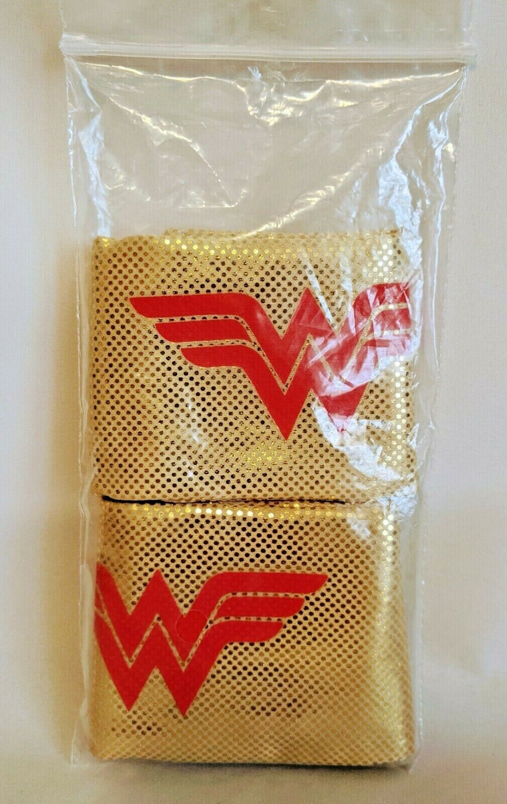 2 WONDER WOMAN Strap Wristbands, GOLD COLOR / FREE SHIPPING!!!
