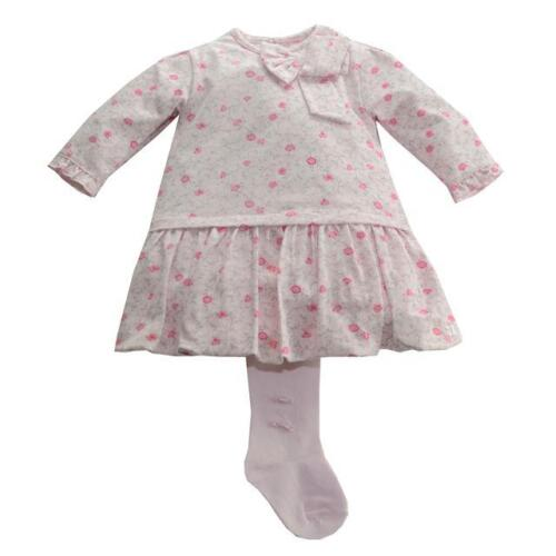 Emile et Rose Girls /'Dacia/' Pink Bubble Dress with Tights Set 12m 23m