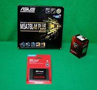 Combo Amd Fx 8320e 4ghz Processor & Asus M5a78l-m+ & 120gb Ssd Builder Combo