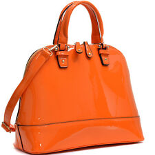 New Women Patent Leather Handbag Satchel Tote Bag Purse Shoulder Bag Flat Bottom