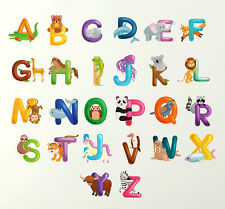 Alphabet Wall Sticker 70cm Learn letters kids room decal children art mural