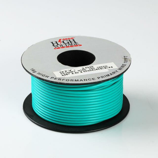18 GAUGE WIRE GREEN 500 FT ON A REEL PRIMARY AWG STRANDED COPPER POWER REMOTE