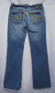 DISTRESSED-Ripped-Butt-GOLD-Embroidered-Pocket-LOW-RISE-Boot-Cut-GLO-Jeans-3