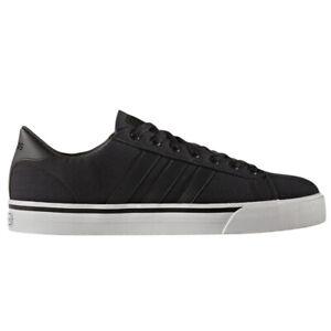 adidas-NEO-CloudFoam-CF-Super-Daily-Canvas-Textile-Sneakers-Black-White-BB9873