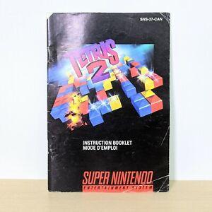 Tetris 2 SNES Super Nintendo Original Instruction Booklet Manual