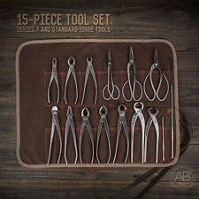 American Bonsai 15 Piece Series 7 & SI Stainless Steel Set & Tool Roll
