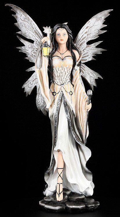 Mística Figura Elfos con Dragón Grande - Merlina - Fantasía Estatua Hadas Fairy
