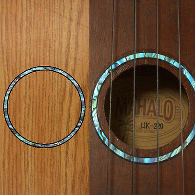 Ukulele Rosette (Abalone Blue) Inlay Sticker Decal |Combined shipping available
