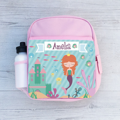Personalised Cute Giraffe Girls Kids Backpack Childrens School Bag