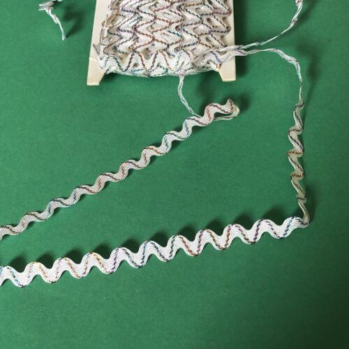 3m x 10mm White Ric Rac With Metallic Thread #1231