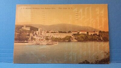 Hudson River --- Postcard New York West Point Aerial View US Military Academy