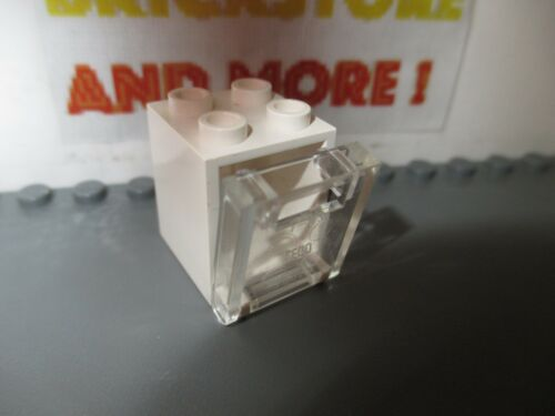 Lego 1x Container Box Boîte 2x2x2 4345 White//Blanc//Weiss 4346 Trans-Clear