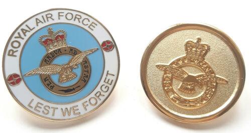 RAF Royal Air Force Crested Gift Set Enamel And Gilt Lapel Pin Badge