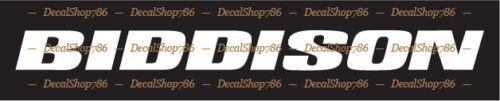 Outdoor Sports Biddison Boats Vinyl Die-Cut Peel N/' Stick Decals//Stickers