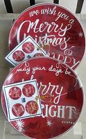 222 Fifth Pts International Christmas Tunes Appetizer Plate Set Of 8
