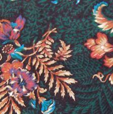 Vintage Natural Assets Floral Green Pink Red Cotton Neck Tie Cravat #Z1-551