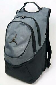 NIKE Air Jordan Jumpman BLACK GRAY Backpack Laptop Book Bag 9A1118 ... ccddc90fcd151