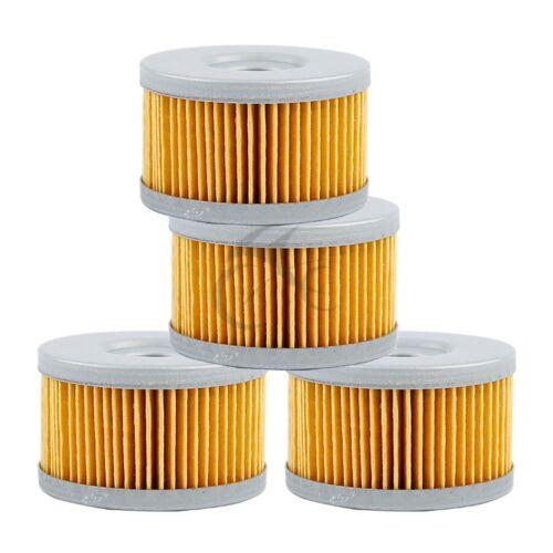 4 PCS Motorcycle Oil Filter For SUZUKI DR600 DR600R//L//M DR650SE DR650S DR750 NEW