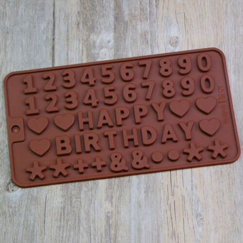 Birthday Letters Number Baking Silicone Cake Mold Fondant Chocolate Decor Lin