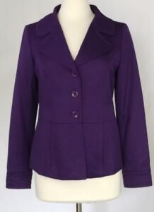Size Plum Purple Weight Blazer Soft Merino Stretchy Jacket Light 10 Pendleton tUaPn4wqRx