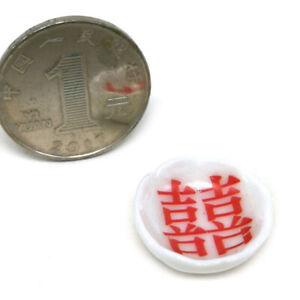 4pcs-1-12-Dollhouse-Miniature-Ceramics-Ceramic-Mini-Double-Happiness-Lace-B-NT