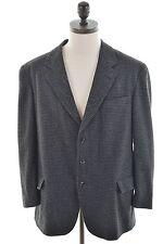ENRICO COVERI Mens 3 Button Blazer Jacket Size 42 Large Black Houndstooth Wool